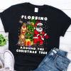 flossing around the christmas tree shirt
