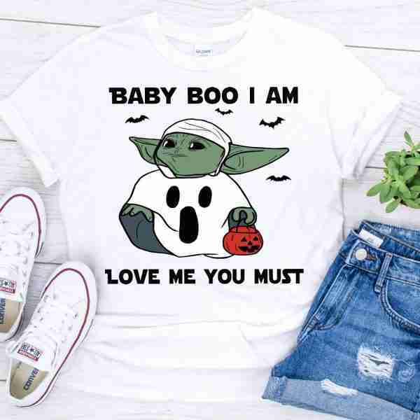 Baby Yoda Boo Halloween shirt