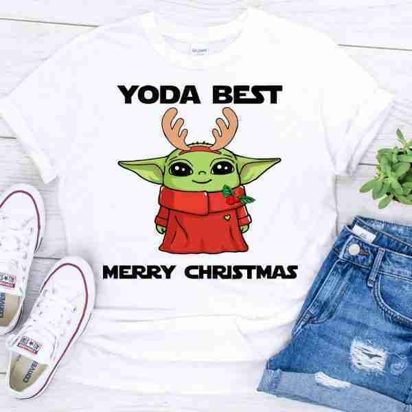 Yoda Best Merry Christmas shirt